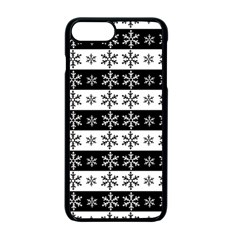 Snowflakes   Christmas Pattern Apple Iphone 7 Plus Seamless Case (black) by Valentinaart