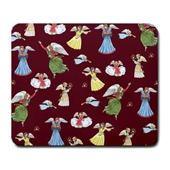 Christmas Angels  Large Mousepads by Valentinaart