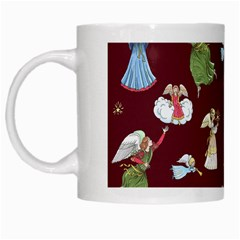 Christmas Angels  White Mugs by Valentinaart