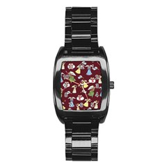 Christmas Angels  Stainless Steel Barrel Watch
