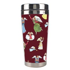 Christmas Angels  Stainless Steel Travel Tumblers by Valentinaart