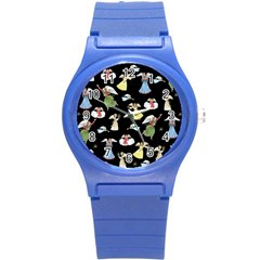 Christmas Angels  Round Plastic Sport Watch (s) by Valentinaart