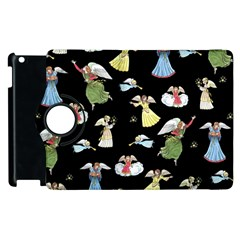 Christmas Angels  Apple Ipad 2 Flip 360 Case by Valentinaart