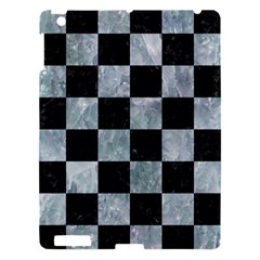 Square1 Black Marble & Ice Crystals Apple Ipad 3/4 Hardshell Case by trendistuff