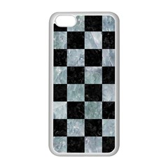 Square1 Black Marble & Ice Crystals Apple Iphone 5c Seamless Case (white)