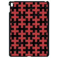 Puzzle1 Black Marble & Red Denim Apple Ipad Pro 9 7   Black Seamless Case by trendistuff