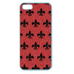 Royal1 Black Marble & Red Denim (r) Apple Seamless Iphone 5 Case (color) by trendistuff