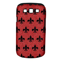 Royal1 Black Marble & Red Denim (r) Samsung Galaxy S Iii Classic Hardshell Case (pc+silicone)