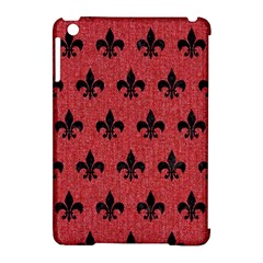 Royal1 Black Marble & Red Denim (r) Apple Ipad Mini Hardshell Case (compatible With Smart Cover) by trendistuff