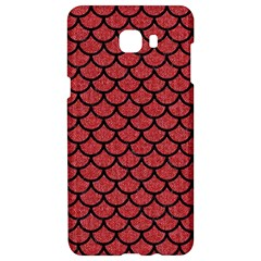Scales1 Black Marble & Red Denim Samsung C9 Pro Hardshell Case