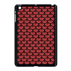 Scales3 Black Marble & Red Denim Apple Ipad Mini Case (black)