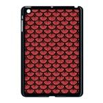 SCALES3 BLACK MARBLE & RED DENIM Apple iPad Mini Case (Black) Front