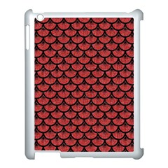 Scales3 Black Marble & Red Denim Apple Ipad 3/4 Case (white) by trendistuff