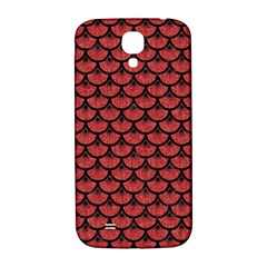 Scales3 Black Marble & Red Denim Samsung Galaxy S4 I9500/i9505  Hardshell Back Case by trendistuff