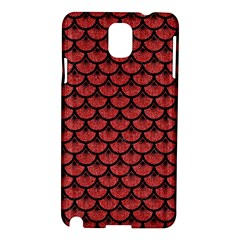 Scales3 Black Marble & Red Denim Samsung Galaxy Note 3 N9005 Hardshell Case by trendistuff