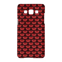 Scales3 Black Marble & Red Denim Samsung Galaxy A5 Hardshell Case  by trendistuff