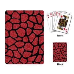 Skin1 Black Marble & Red Denim (r) Playing Card by trendistuff