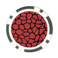 Skin1 Black Marble & Red Denim (r) Poker Chip Card Guard (10 Pack) by trendistuff