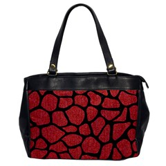 Skin1 Black Marble & Red Denim (r) Office Handbags by trendistuff