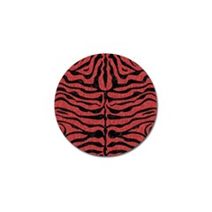 Skin2 Black Marble & Red Denim Golf Ball Marker (10 Pack) by trendistuff