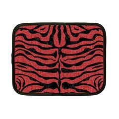Skin2 Black Marble & Red Denim Netbook Case (small)  by trendistuff