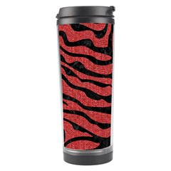 Skin2 Black Marble & Red Denim Travel Tumbler by trendistuff