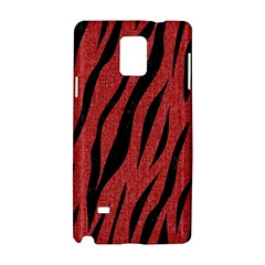 Skin3 Black Marble & Red Denim Samsung Galaxy Note 4 Hardshell Case by trendistuff