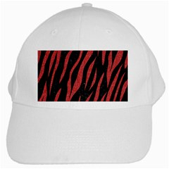Skin3 Black Marble & Red Denim (r) White Cap