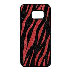 Skin3 Black Marble & Red Denim (r) Samsung Galaxy S7 Black Seamless Case by trendistuff