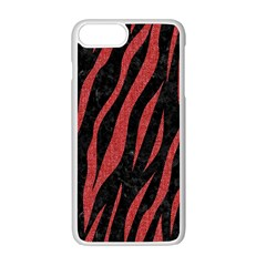Skin3 Black Marble & Red Denim (r) Apple Iphone 7 Plus Seamless Case (white) by trendistuff