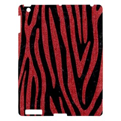 Skin4 Black Marble & Red Denim Apple Ipad 3/4 Hardshell Case by trendistuff