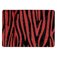 Skin4 Black Marble & Red Denim Samsung Galaxy Tab 10 1  P7500 Flip Case by trendistuff