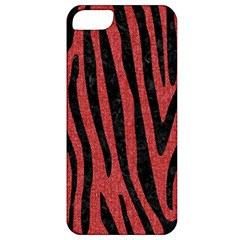 Skin4 Black Marble & Red Denim (r) Apple Iphone 5 Classic Hardshell Case by trendistuff