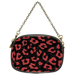 Skin5 Black Marble & Red Denim Chain Purses (one Side)  by trendistuff