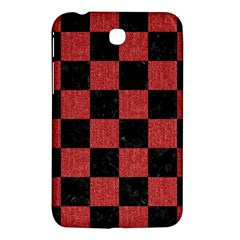 Square1 Black Marble & Red Denim Samsung Galaxy Tab 3 (7 ) P3200 Hardshell Case  by trendistuff