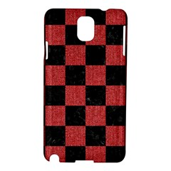 Square1 Black Marble & Red Denim Samsung Galaxy Note 3 N9005 Hardshell Case by trendistuff