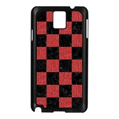 Square1 Black Marble & Red Denim Samsung Galaxy Note 3 N9005 Case (black)