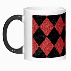 Square2 Black Marble & Red Denim Morph Mugs by trendistuff