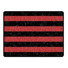 Stripes2 Black Marble & Red Denim Double Sided Fleece Blanket (small)  by trendistuff