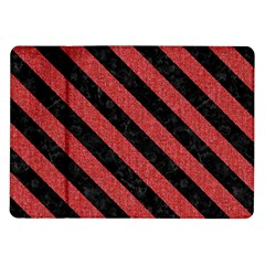 Stripes3 Black Marble & Red Denim Samsung Galaxy Tab 10 1  P7500 Flip Case by trendistuff