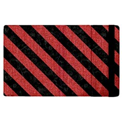 Stripes3 Black Marble & Red Denim Apple Ipad Pro 12 9   Flip Case by trendistuff