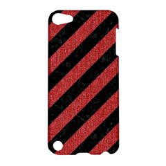 Stripes3 Black Marble & Red Denim (r) Apple Ipod Touch 5 Hardshell Case by trendistuff