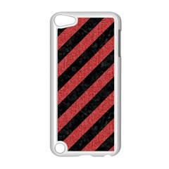 Stripes3 Black Marble & Red Denim (r) Apple Ipod Touch 5 Case (white) by trendistuff