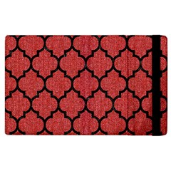 Tile1 Black Marble & Red Denim Apple Ipad 2 Flip Case by trendistuff