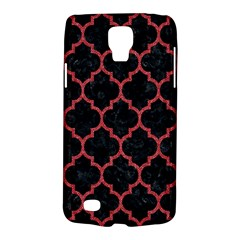 Tile1 Black Marble & Red Denim (r) Galaxy S4 Active by trendistuff