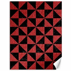 Triangle1 Black Marble & Red Denim Canvas 36  X 48