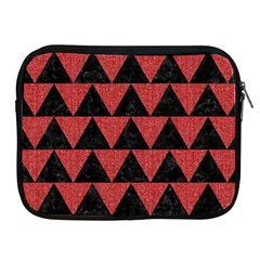 Triangle2 Black Marble & Red Denim Apple Ipad 2/3/4 Zipper Cases by trendistuff