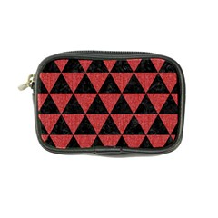 Triangle3 Black Marble & Red Denim Coin Purse by trendistuff