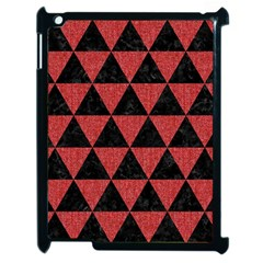 Triangle3 Black Marble & Red Denim Apple Ipad 2 Case (black) by trendistuff