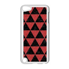 Triangle3 Black Marble & Red Denim Apple Ipod Touch 5 Case (white) by trendistuff